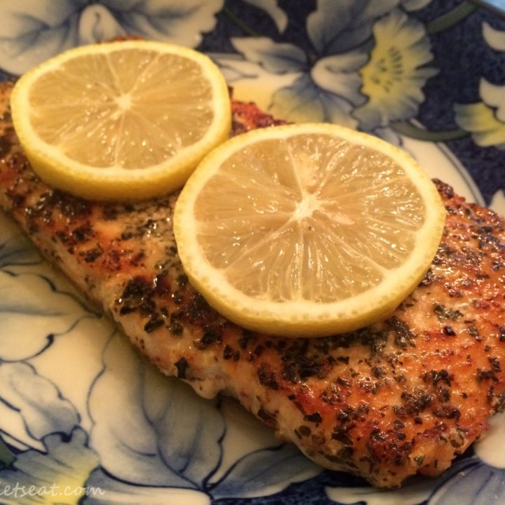 Easy Salmon with Lemon and Basil