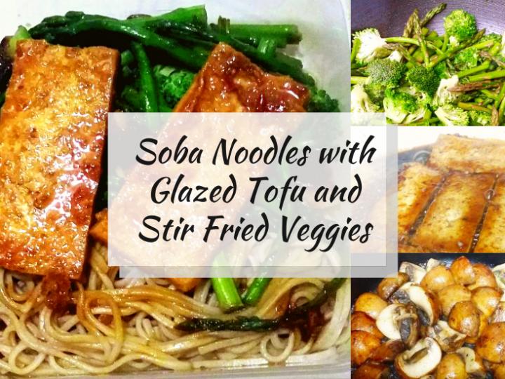 Soba Noodles with Glazed Tofu and Stir Fried Veggies (Gluten Free, Vegan)