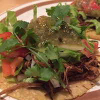 Slow Cooker Pork Carnitas with Pepper and Lime Sauce