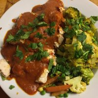 Spicy Paleo Chicken Tikka Masala with Curry Roasted Vegetables