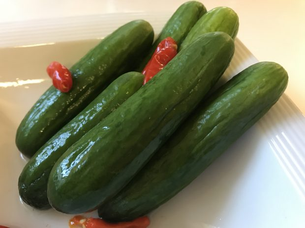 Paleo Chinese Spicy Pickled Cucumbers