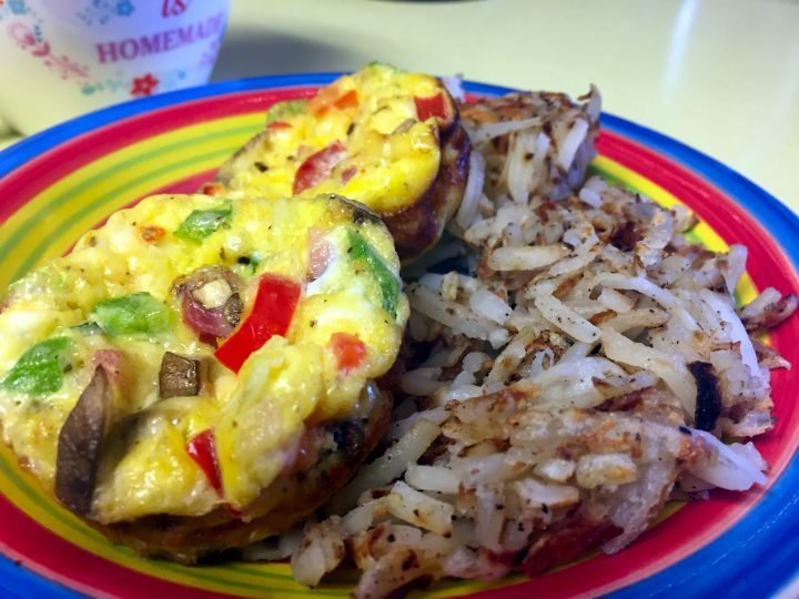 Ham, Peppers, Jalapeno Omelette Cups