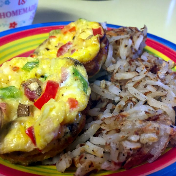 Paleo Western Omelette Cups (Ham, Peppers, Jalapeno)