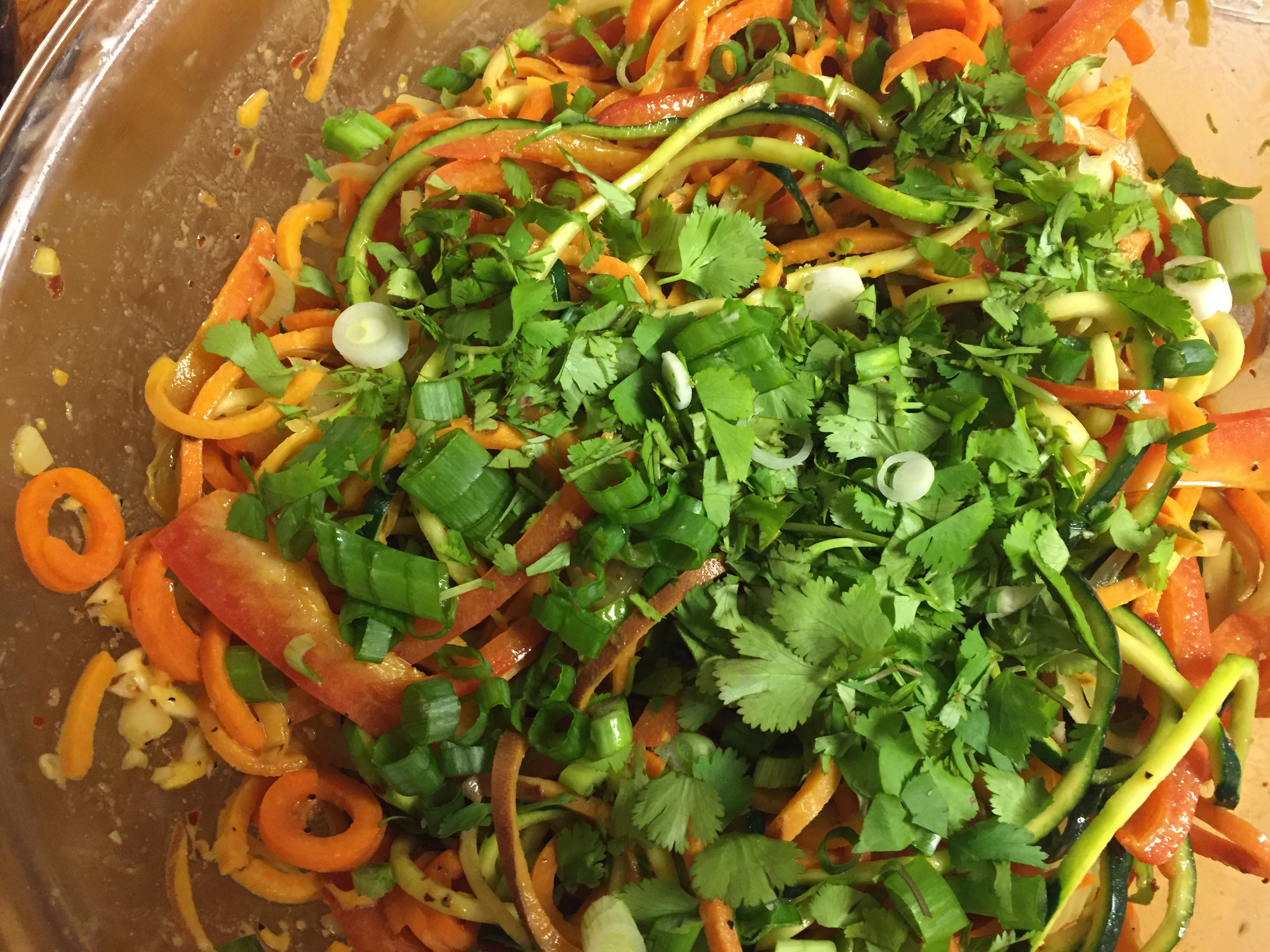 Spicy Thai Paleo Noodle Salad