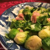 Stir Fried Brussels Sprouts with Bacon