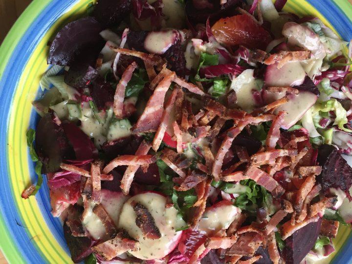 Spring Beet Radicchio Salad with Blood Orange Vinaigrette