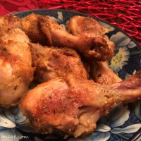 Baked Ginger Spiced Chicken Drumsticks