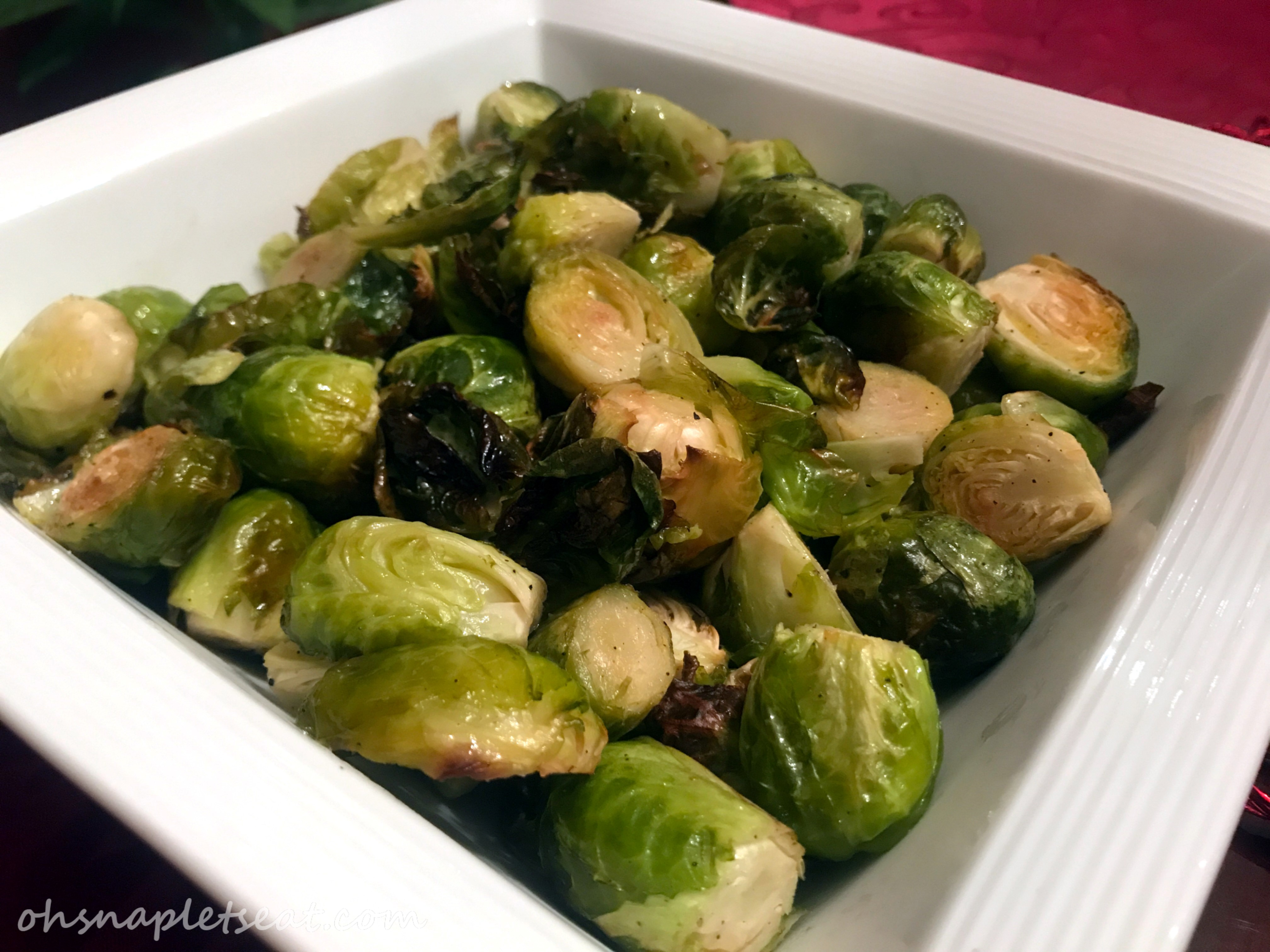 Simple Oven Roasted Brussels Sprouts