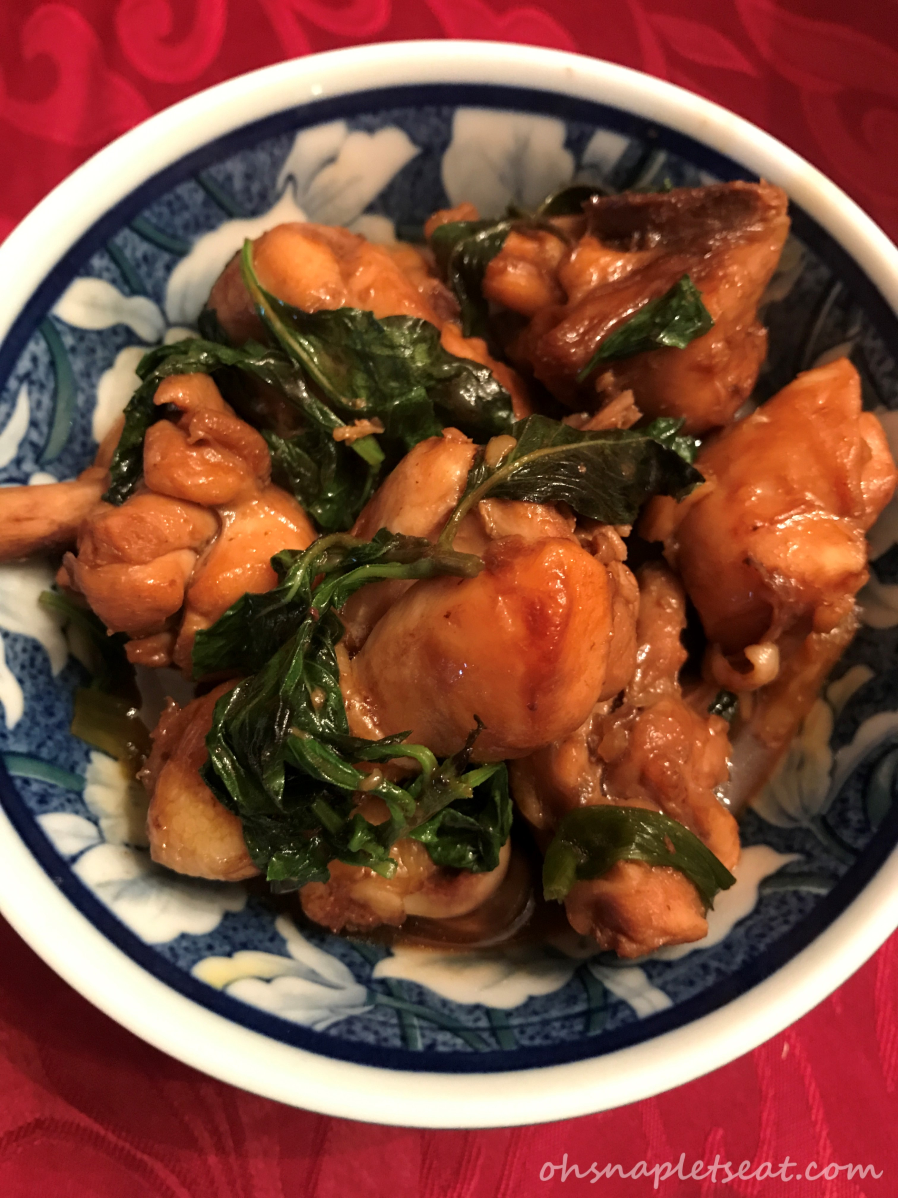 Taiwanese Three Cup Chicken (Paleo and Gluten Free Options)