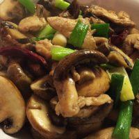Chinese Spicy Portobello Mushroom Chicken