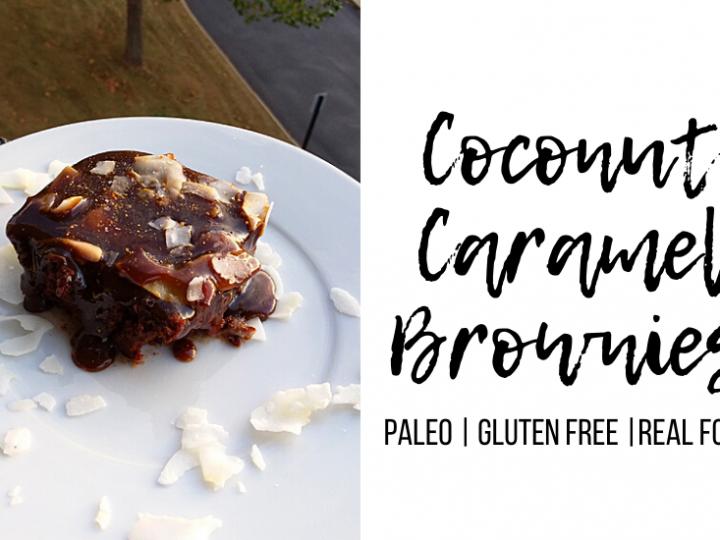 Paleo Coconut Caramel Brownies