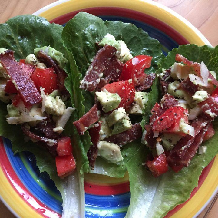 Super Easy Paleo BLT Wrap with Avocado