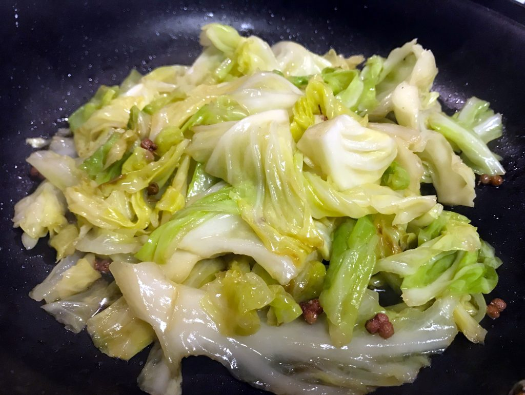 Stir Fry Cabbage with Sichuan Peppercorn