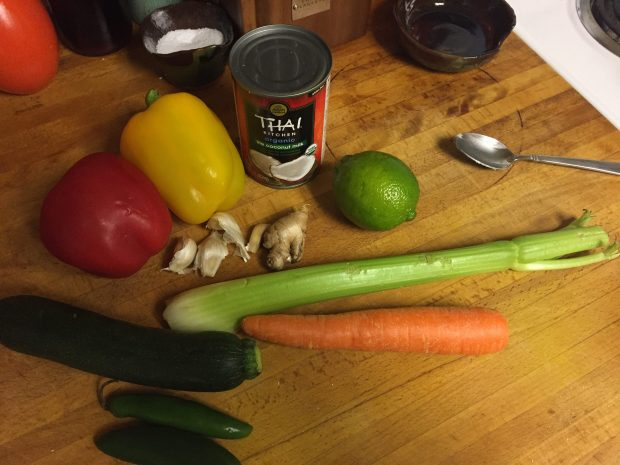 Paleo Green Curry Chicken Soup