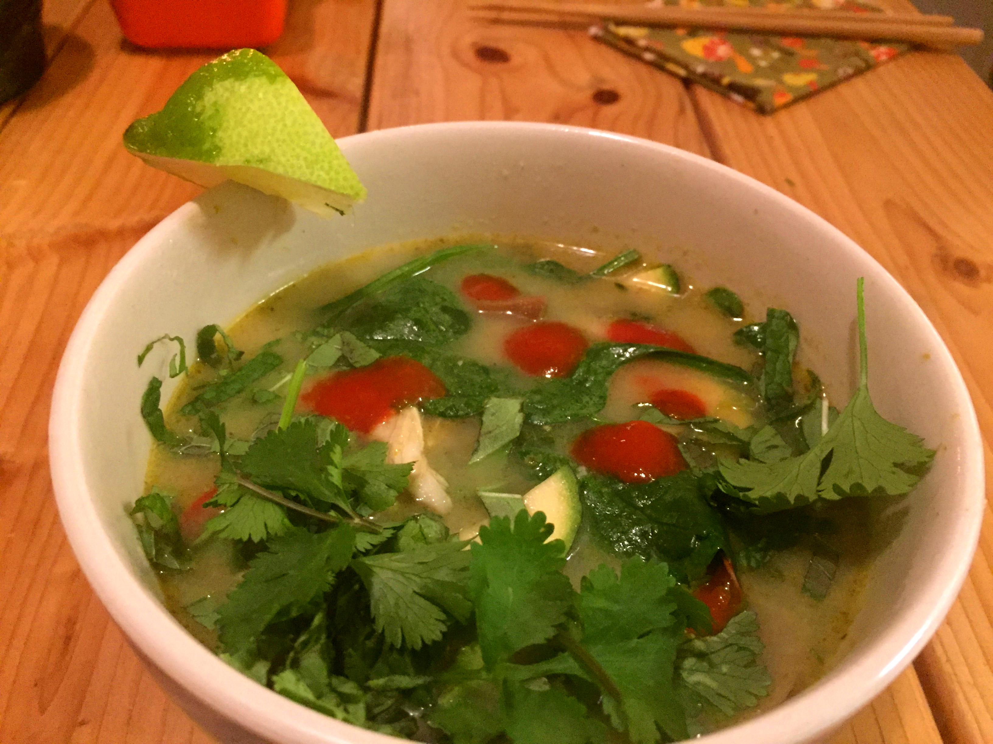 Paleo Green Chicken Curry Soup