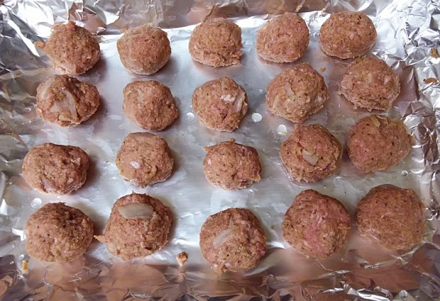 Bacon Turkey Meatballs with Peach Honey Mustard Sauce