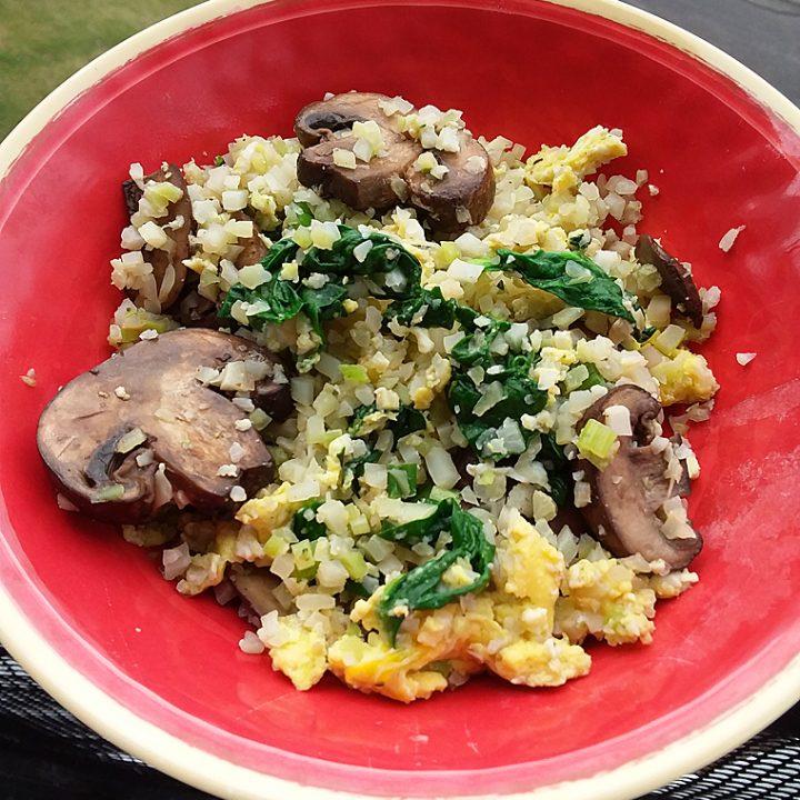 Paleo Mushroom Cauliflower Fried Rice