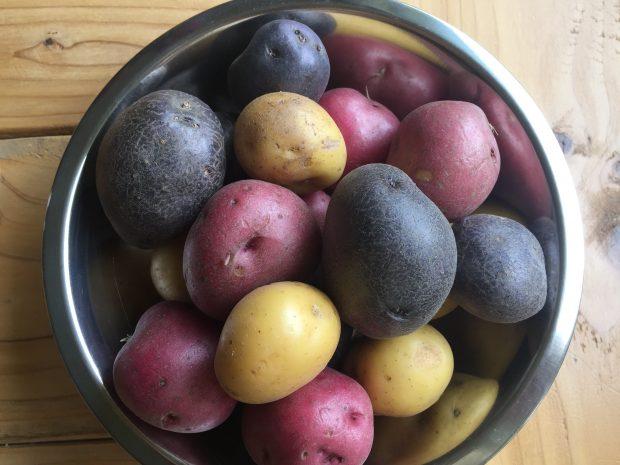Paleo Red White and Blue Potato Salad