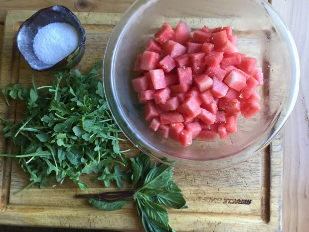 Paleo Watermelon Arugula Salad