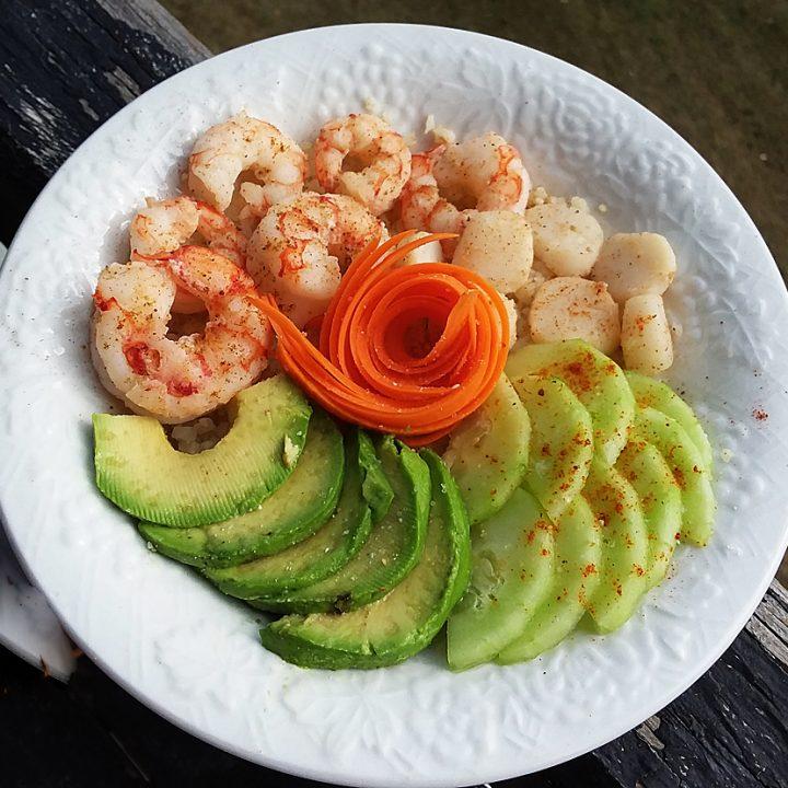 Shrimp and Scallop Buddha Bowl (Paleo, Whole30)