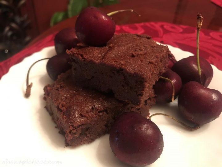 Paleo Cherry Brownies