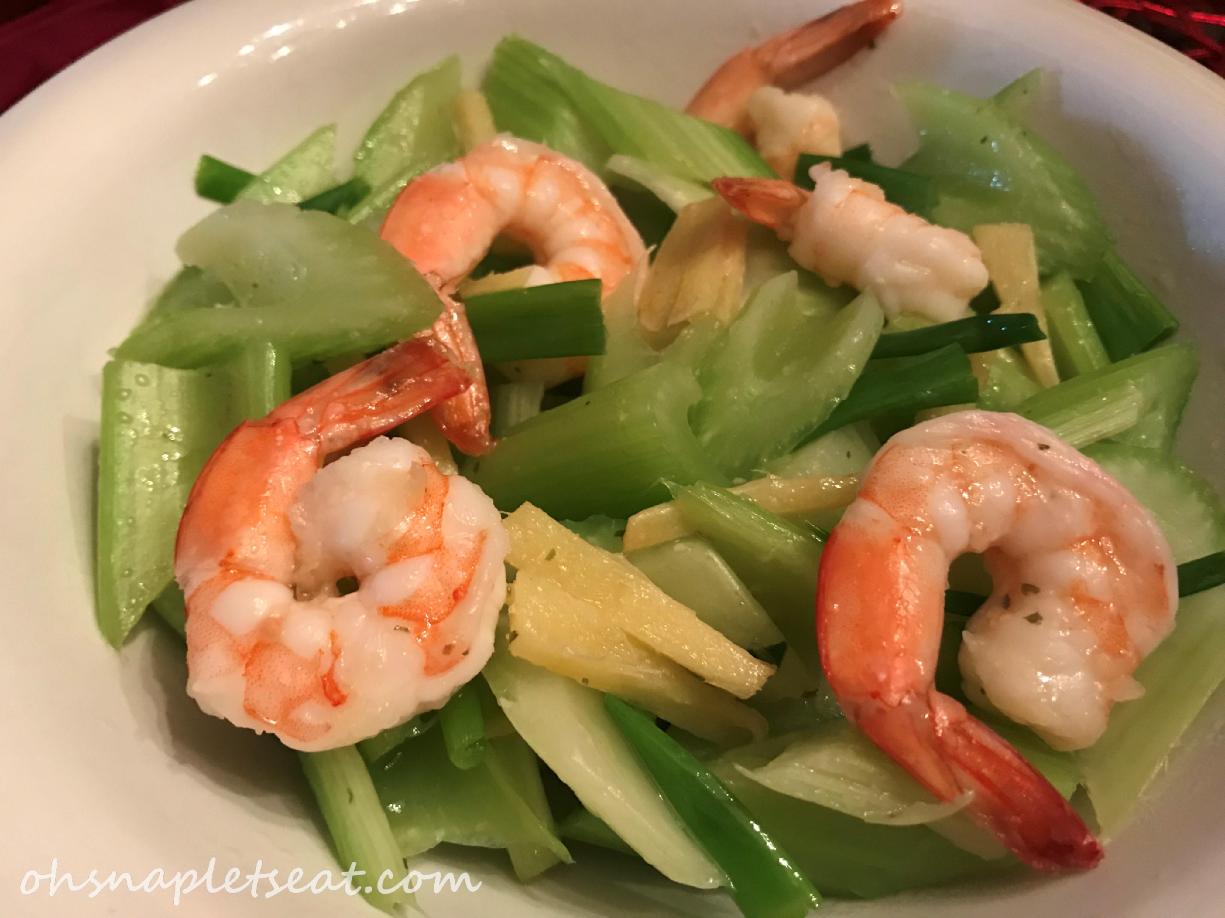 Celery and Shrimp Stir Fry