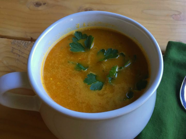 Carrot Ginger Soup (Coconut Base)