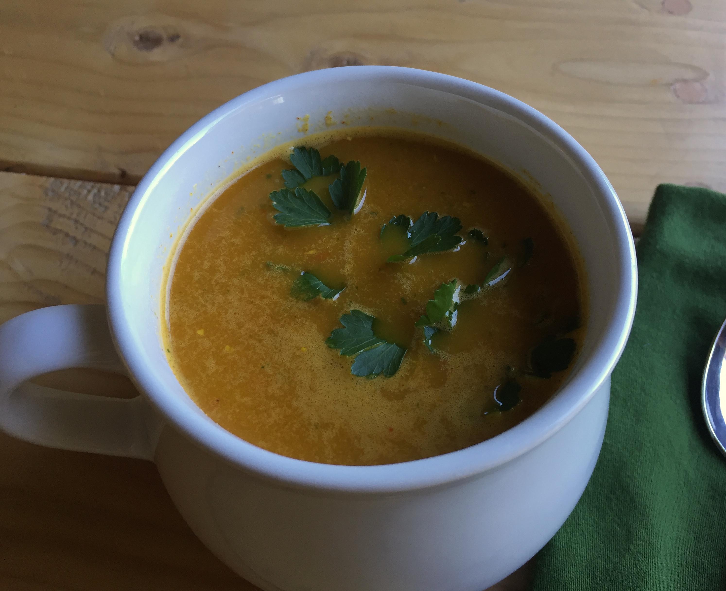 Paleo Carrot Ginger Soup