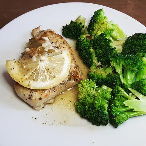Lemon Garlic Chicken with Broccoli