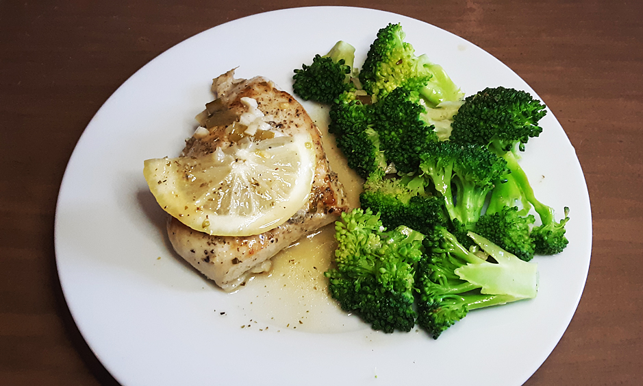 Lemon Garlic Chicken with Broccoli