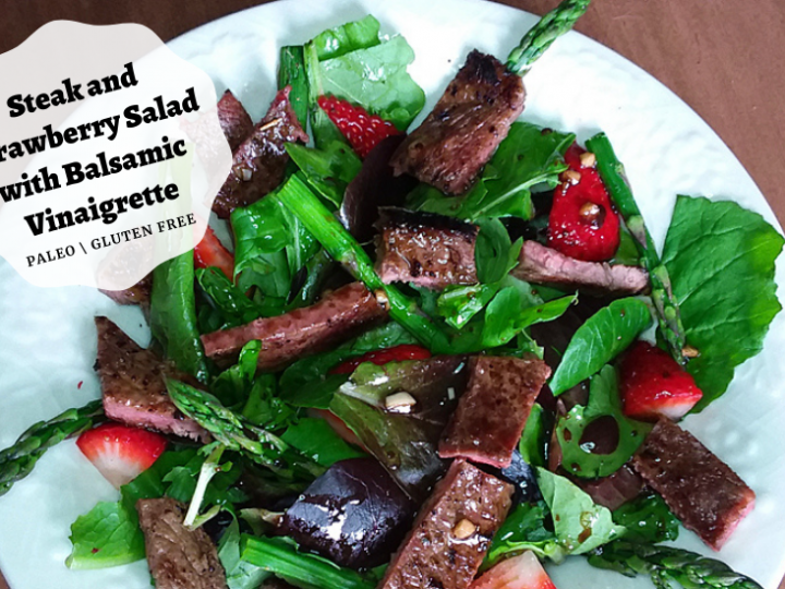 Steak Strawberry Salad with Balsamic Vinaigrette