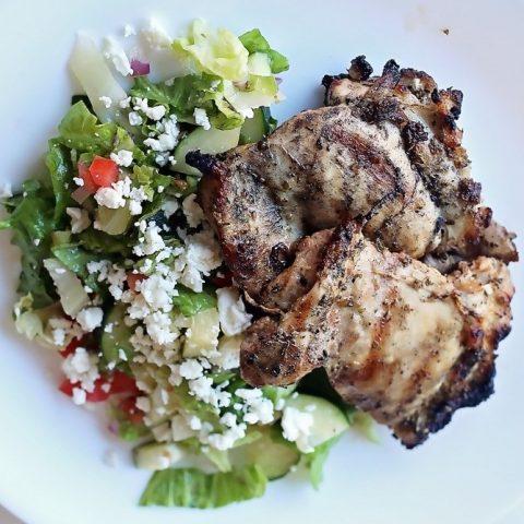Keto Greek Grilled Chicken Salad