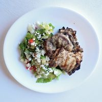 Keto Greek Grilled Chicken Salad
