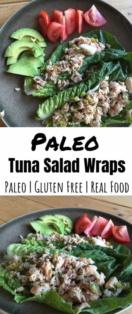 Paleo Tuna Salad Wraps