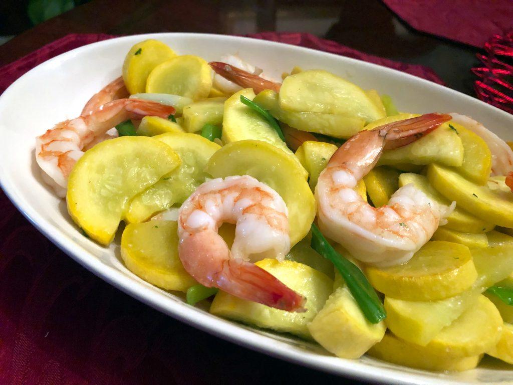 Shrimp and Summer Squash Stir Fry