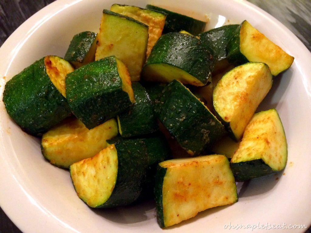 Oven Roasted Zucchini Chunks