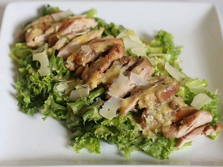Keto Chicken Caesar Salad (Paleo, Whole30 Options)