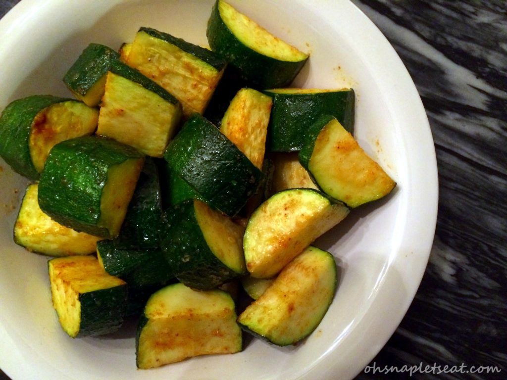 Oven Baked Zucchini Chunks