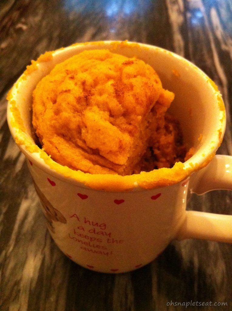 Paleo Pumpkin Cake In A Cup