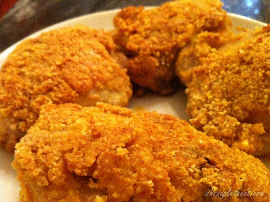 Paleo Keto Fried Chicken almond flour fried chicken