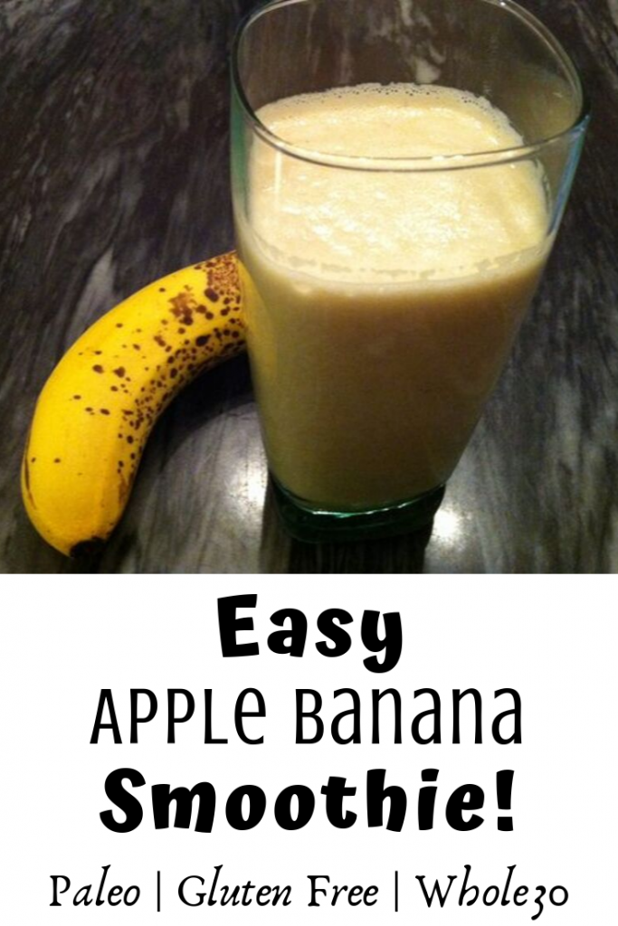 Paleo Apple Banana Smoothie
