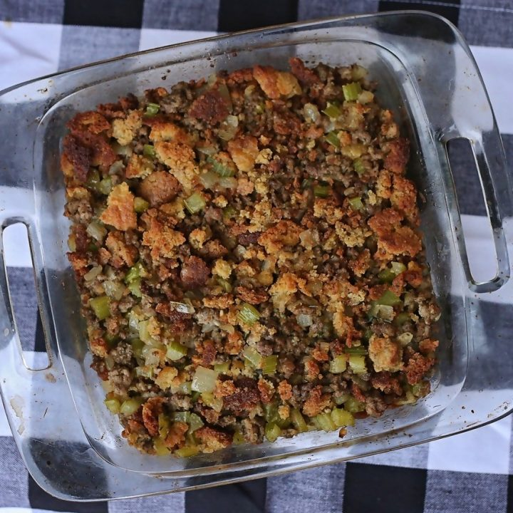 Keto Cornbread Stuffing (Gluten Free)