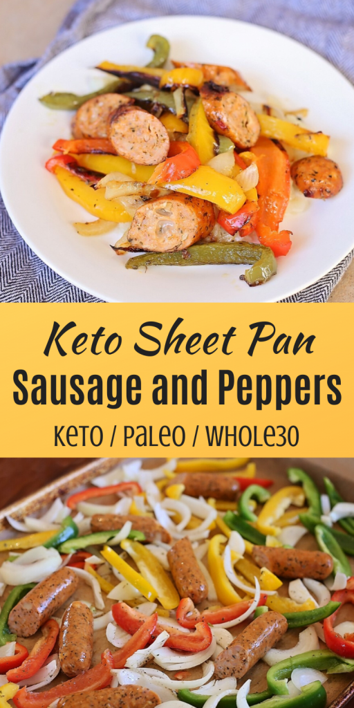 Keto Sheet Pan Sausage and Peppers