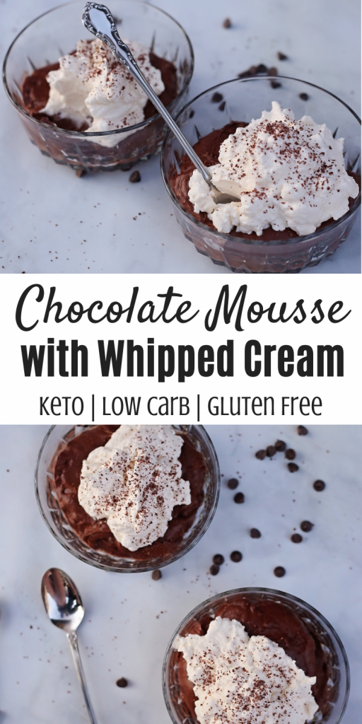 Keto Chocolate Mousse with Whipped Cream