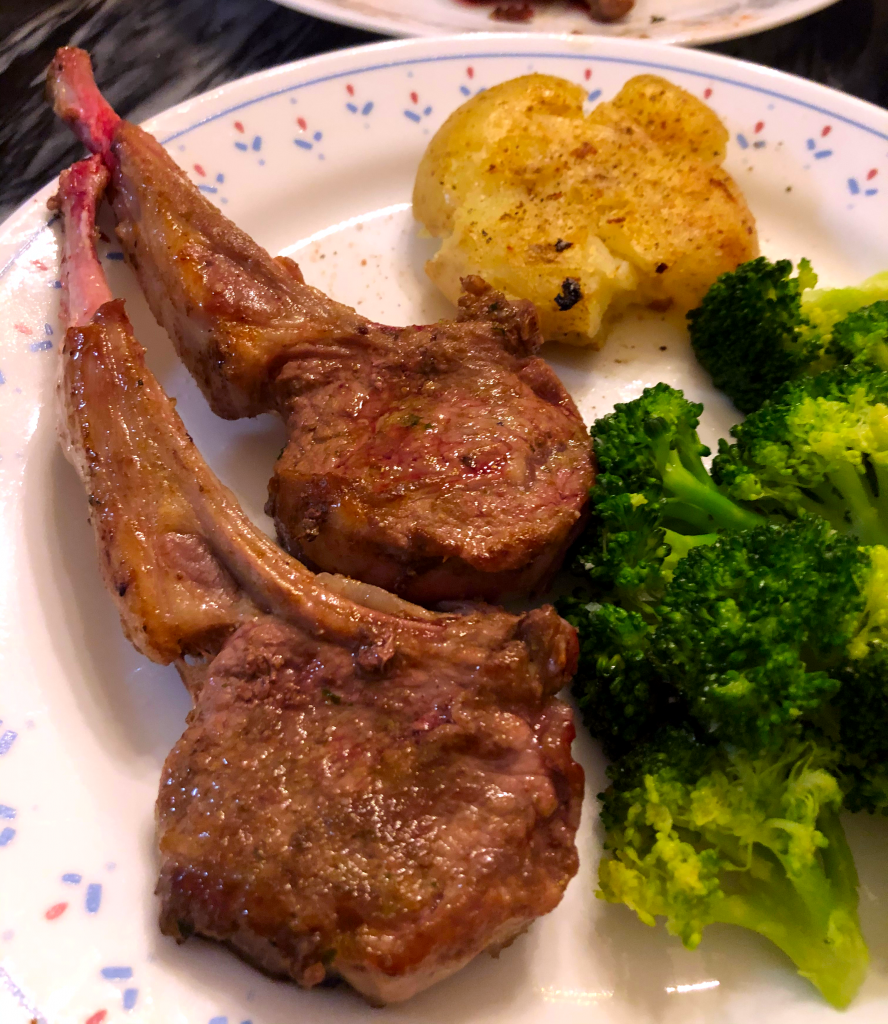 Pan Fried Lamb Chops (Rack of Lamb)