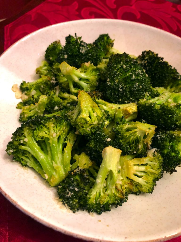oven roasted garlic parmesan broccoli