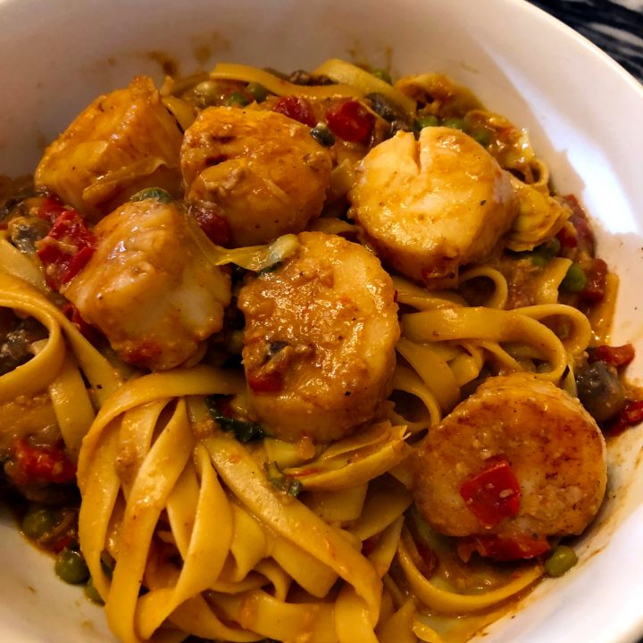 Scallops with Fettuccine