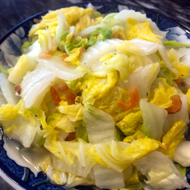 Stir Fry Napa Cabbage with Dried Shrimp