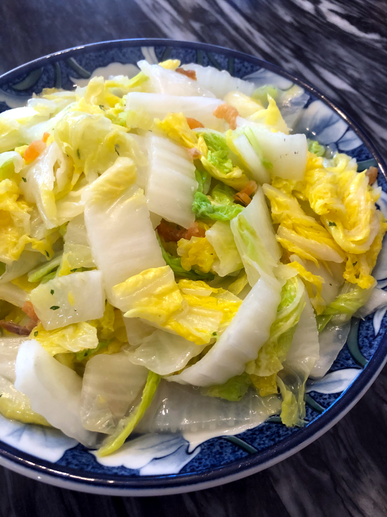 Stir Fry Napa Cabbage with Dried Shrimp