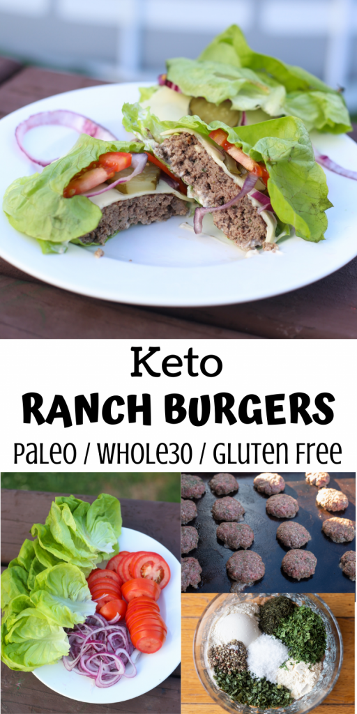 Keto Ranch Burgers (Paleo, Whole30)